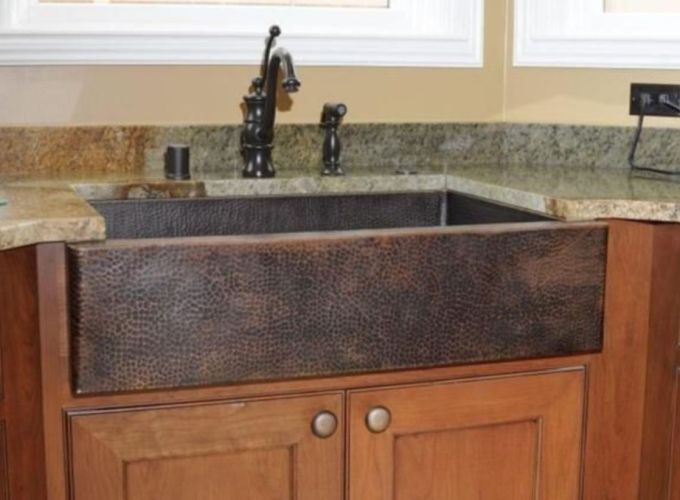Cool farmhouse kitchen sink remodel ideas 38