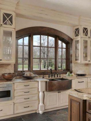 Cool farmhouse kitchen sink remodel ideas 46
