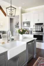 Cool farmhouse kitchen sink remodel ideas 49