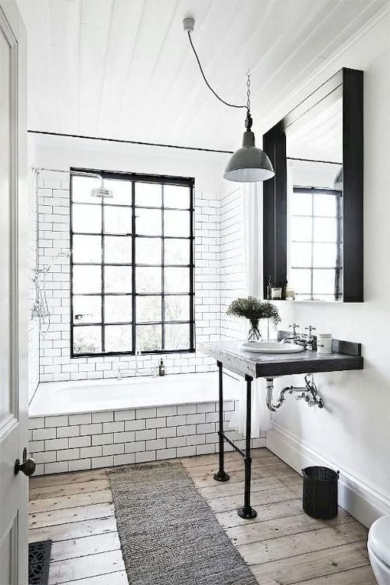 Cozy farmhouse bathroom makeover ideas 06