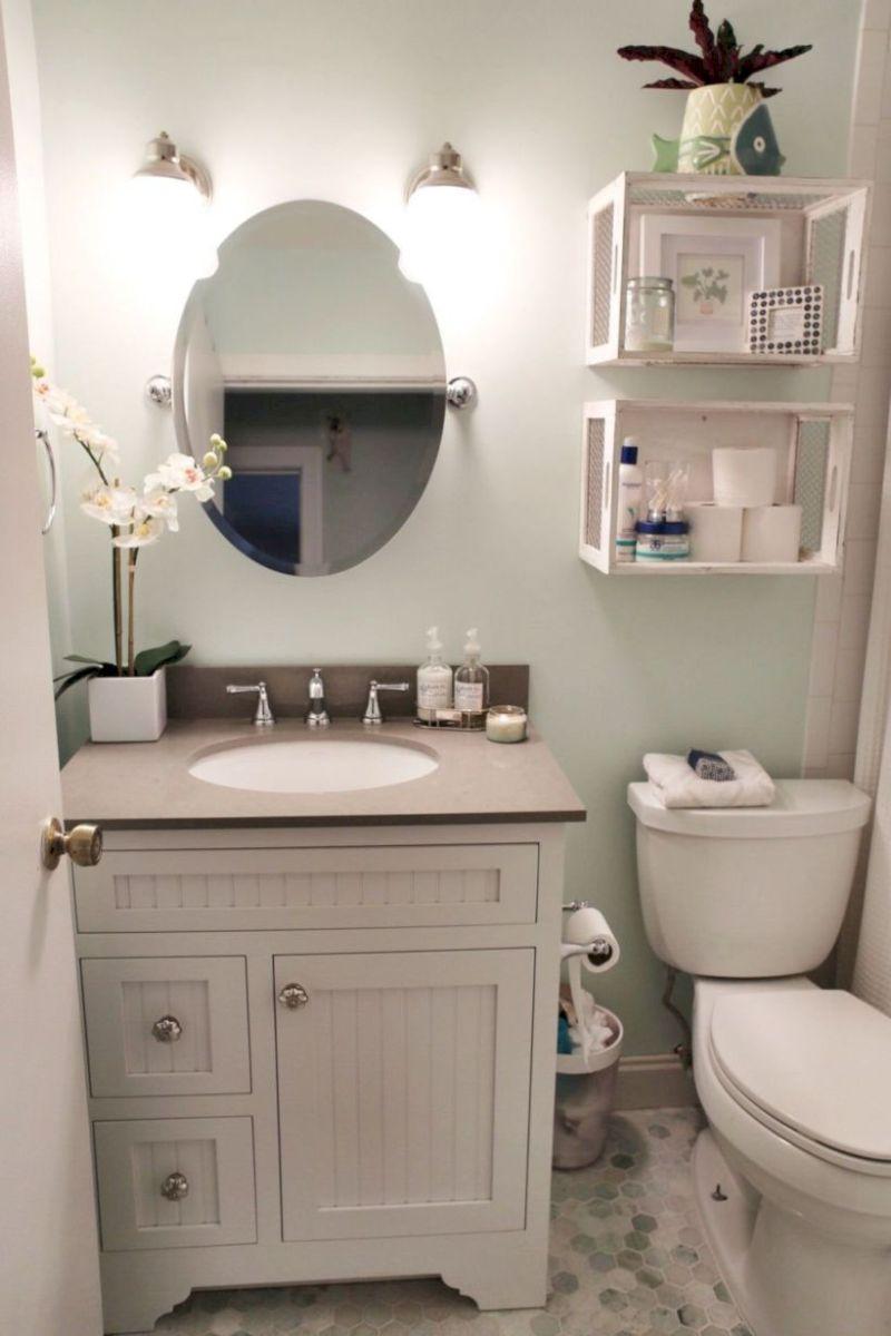 Cozy farmhouse bathroom makeover ideas 07