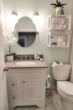 Cozy farmhouse bathroom makeover ideas 07
