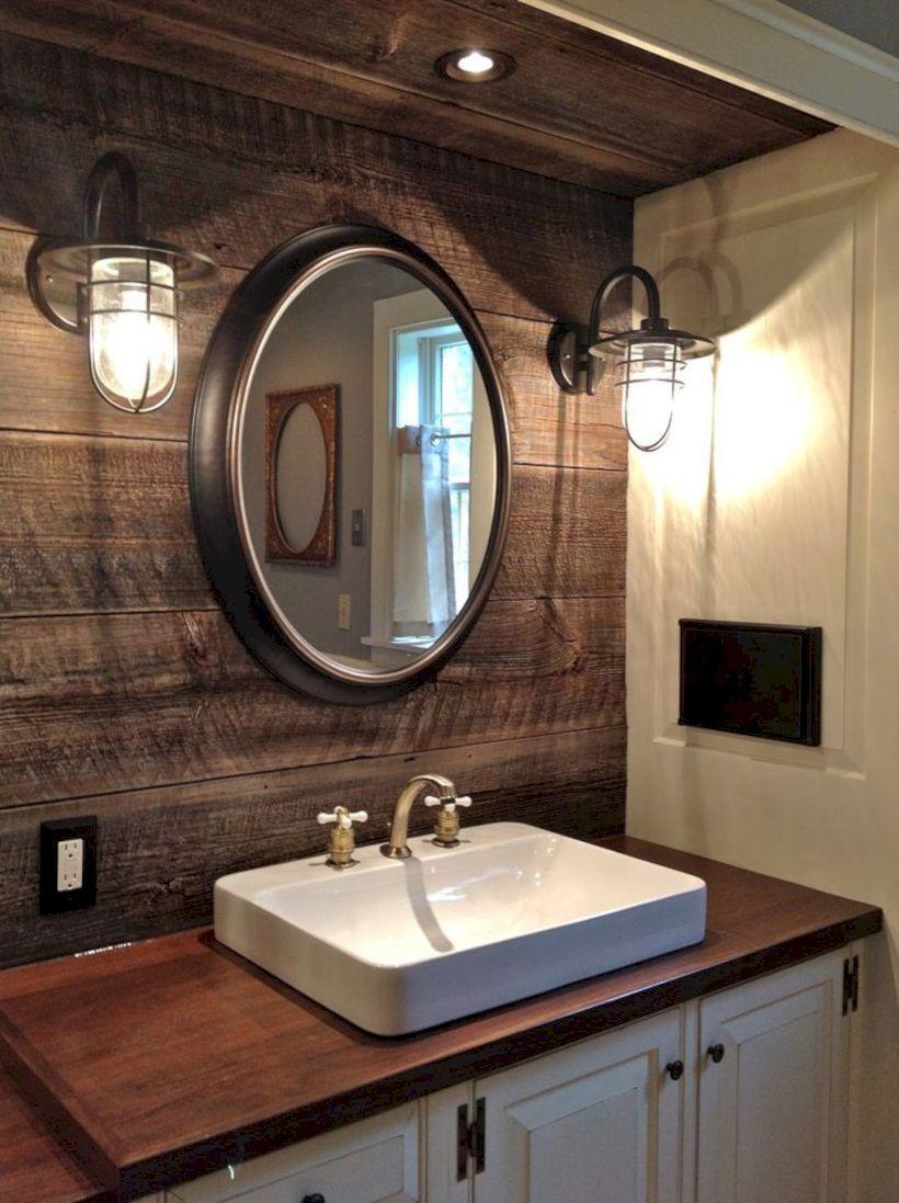 Cozy farmhouse bathroom makeover ideas 19
