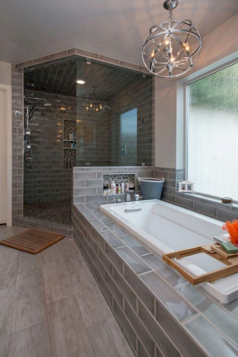 Cozy farmhouse bathroom makeover ideas 26
