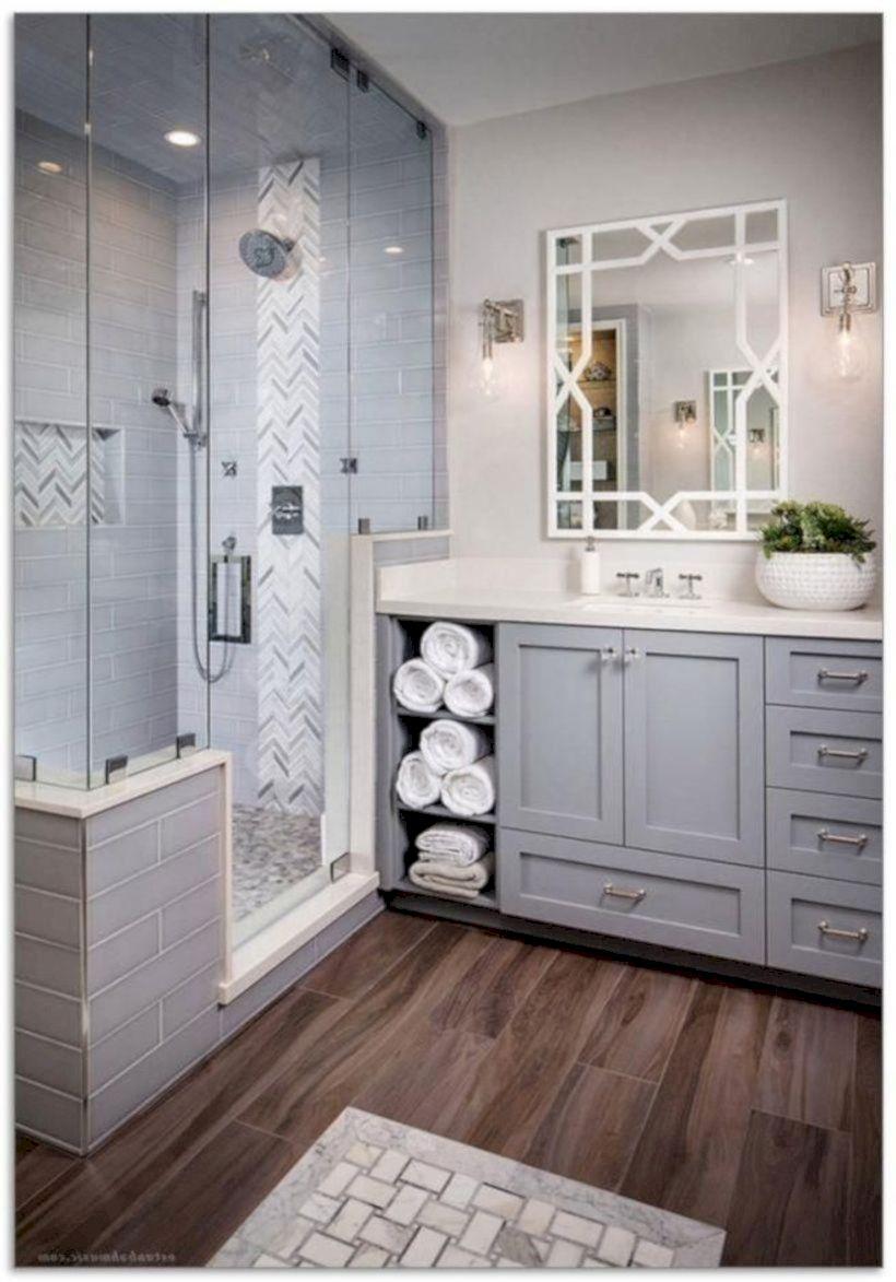 Cozy farmhouse bathroom makeover ideas 33