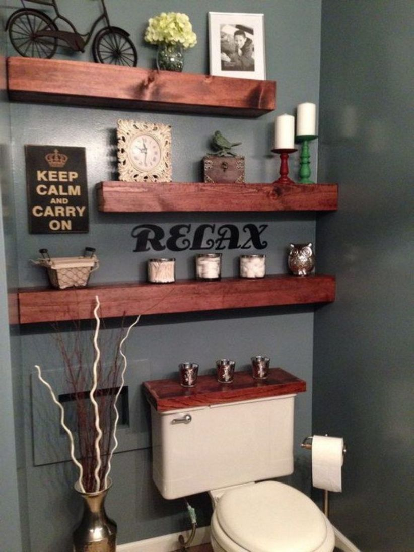 Creative diy bathroom makeover ideas 44