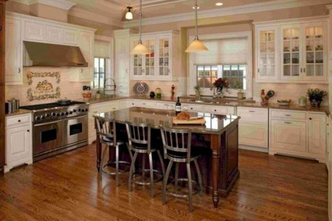 Cute kitchen remodels with white cabinets 01
