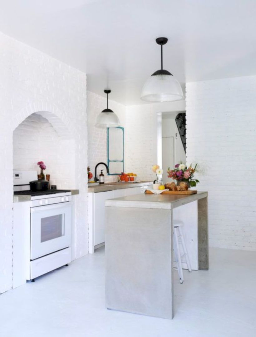 Fabulous all white kitchens ideas 36