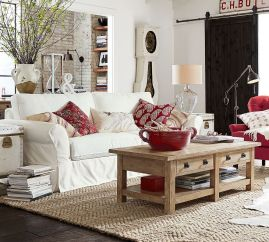 Fabulous farmhouse living room decor design ideas 32