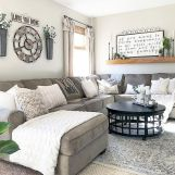 Gorgeous farmhouse living room decor design ideas 14