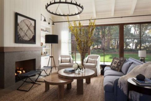 Gorgeous farmhouse living room decor design ideas 15