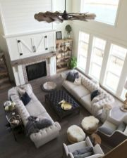 Gorgeous farmhouse living room decor design ideas 20