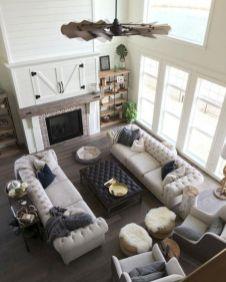 Gorgeous farmhouse living room decor design ideas 20