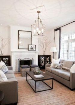 Gorgeous farmhouse living room decor design ideas 25