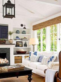 Gorgeous farmhouse living room decor design ideas 45