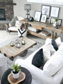 Gorgeous farmhouse living room decor design ideas 46