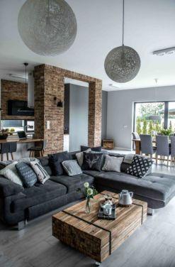 Gorgeous farmhouse living room decor design ideas 55