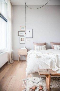 Gorgeous minimalist elegant white themed bedroom ideas 32