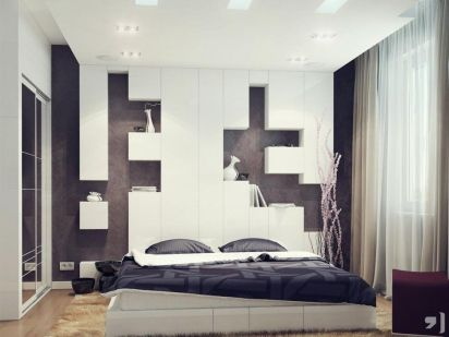 Gorgeous minimalist elegant white themed bedroom ideas 33