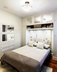 Gorgeous minimalist elegant white themed bedroom ideas 36