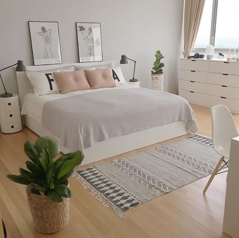 45 Gorgeous Minimalist Elegant White Themed Bedroom Ideas