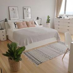 Gorgeous minimalist elegant white themed bedroom ideas 39