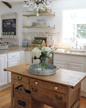 Impressive farmhouse country kitchen decor ideas 13