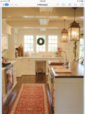 Impressive farmhouse country kitchen decor ideas 17