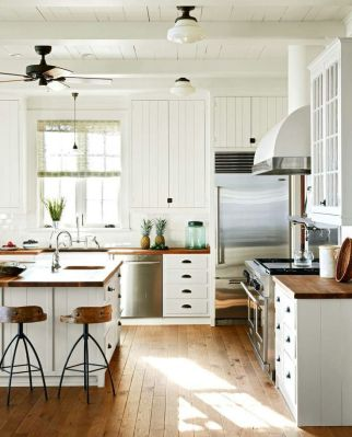 Impressive farmhouse country kitchen decor ideas 21