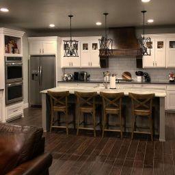 Impressive farmhouse country kitchen decor ideas 30