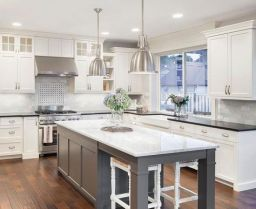 Impressive farmhouse country kitchen decor ideas 31
