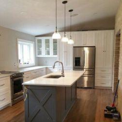 Impressive farmhouse country kitchen decor ideas 46
