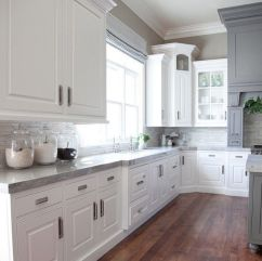 Most popular grey and white kitchen curtains ideas 06