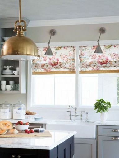 Most popular grey and white kitchen curtains ideas 14