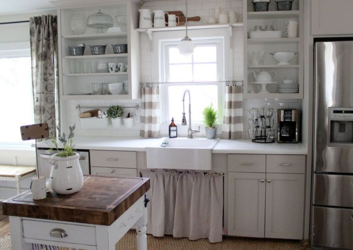 47 Most Popular Grey And White Kitchen Curtains Ideas