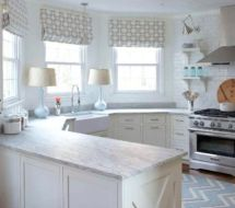 Most popular grey and white kitchen curtains ideas 44