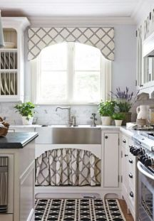 Most popular grey and white kitchen curtains ideas 45