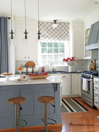 Most popular grey and white kitchen curtains ideas 46