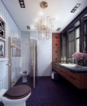 Most popular mid century modern bathroom lighting 38
