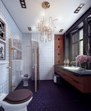 Most popular mid century modern bathroom lighting 38