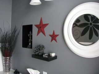 Most popular red black and white bathroom decor ideas 11