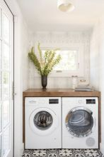 Outstanding black and white laundry room ideas 04