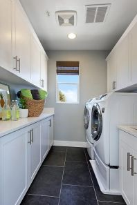Outstanding black and white laundry room ideas 07