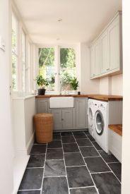 Outstanding black and white laundry room ideas 20
