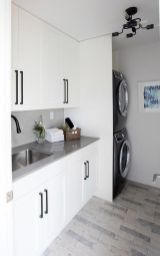 Outstanding black and white laundry room ideas 21