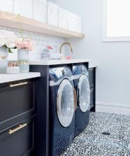 Outstanding black and white laundry room ideas 22