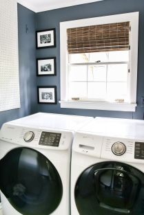 Outstanding black and white laundry room ideas 34