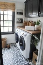 Outstanding black and white laundry room ideas 39