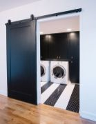 Outstanding black and white laundry room ideas 46