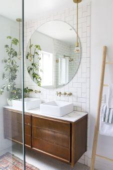 Stunning bathroom mirror decor ideas 26